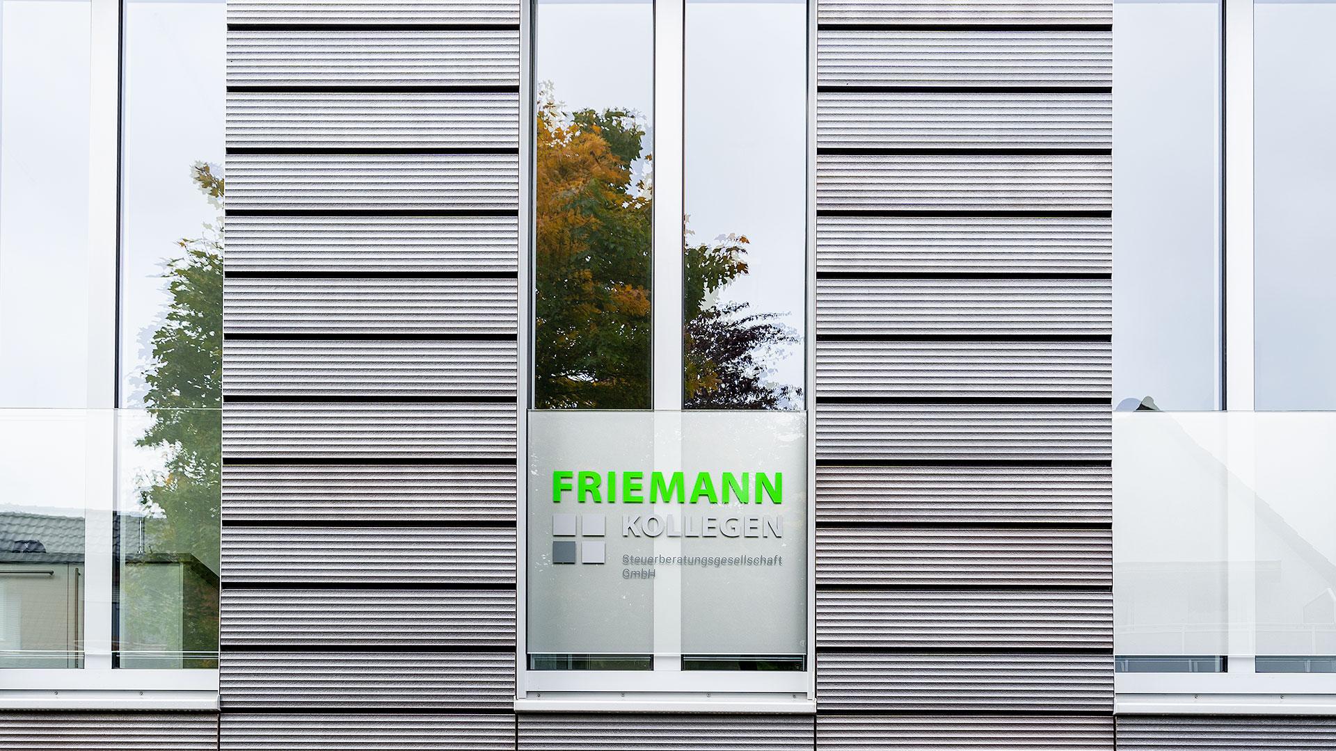 Beschilderung Friemann + Kollegen