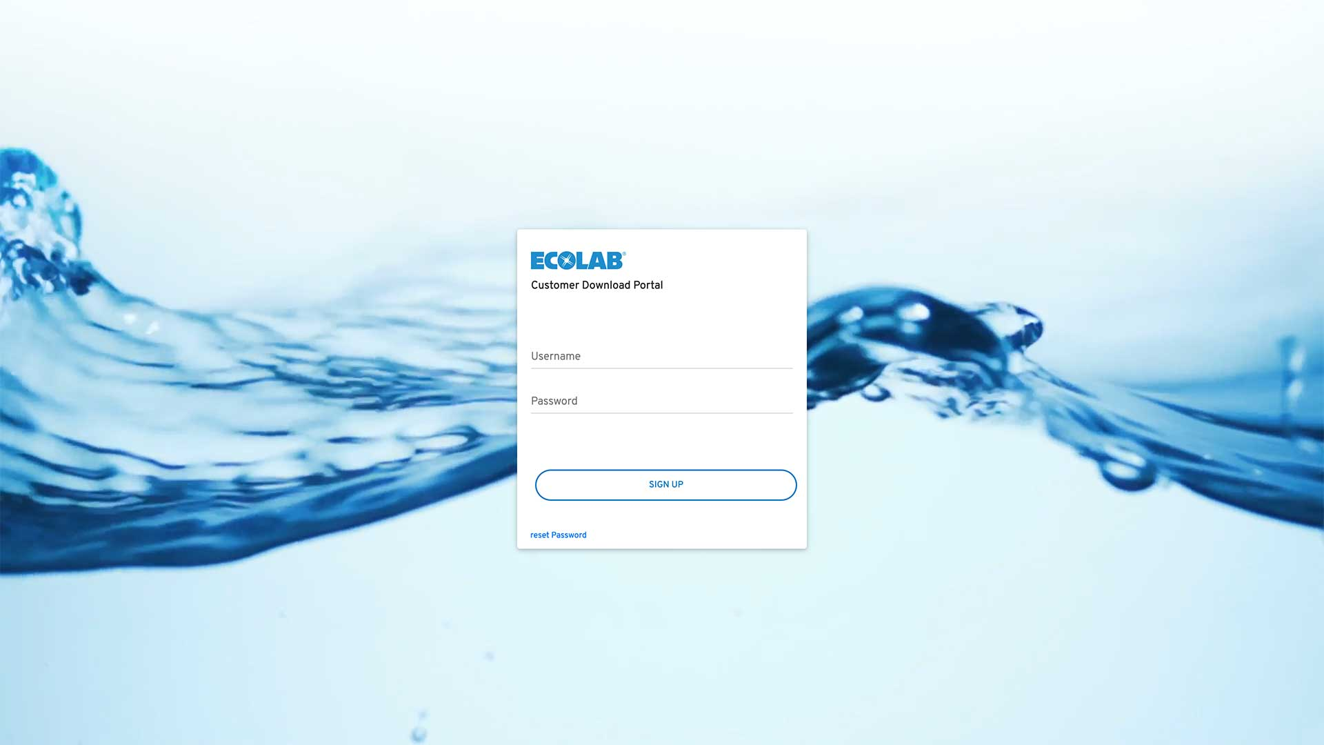 Ecolab Customer Download Portal