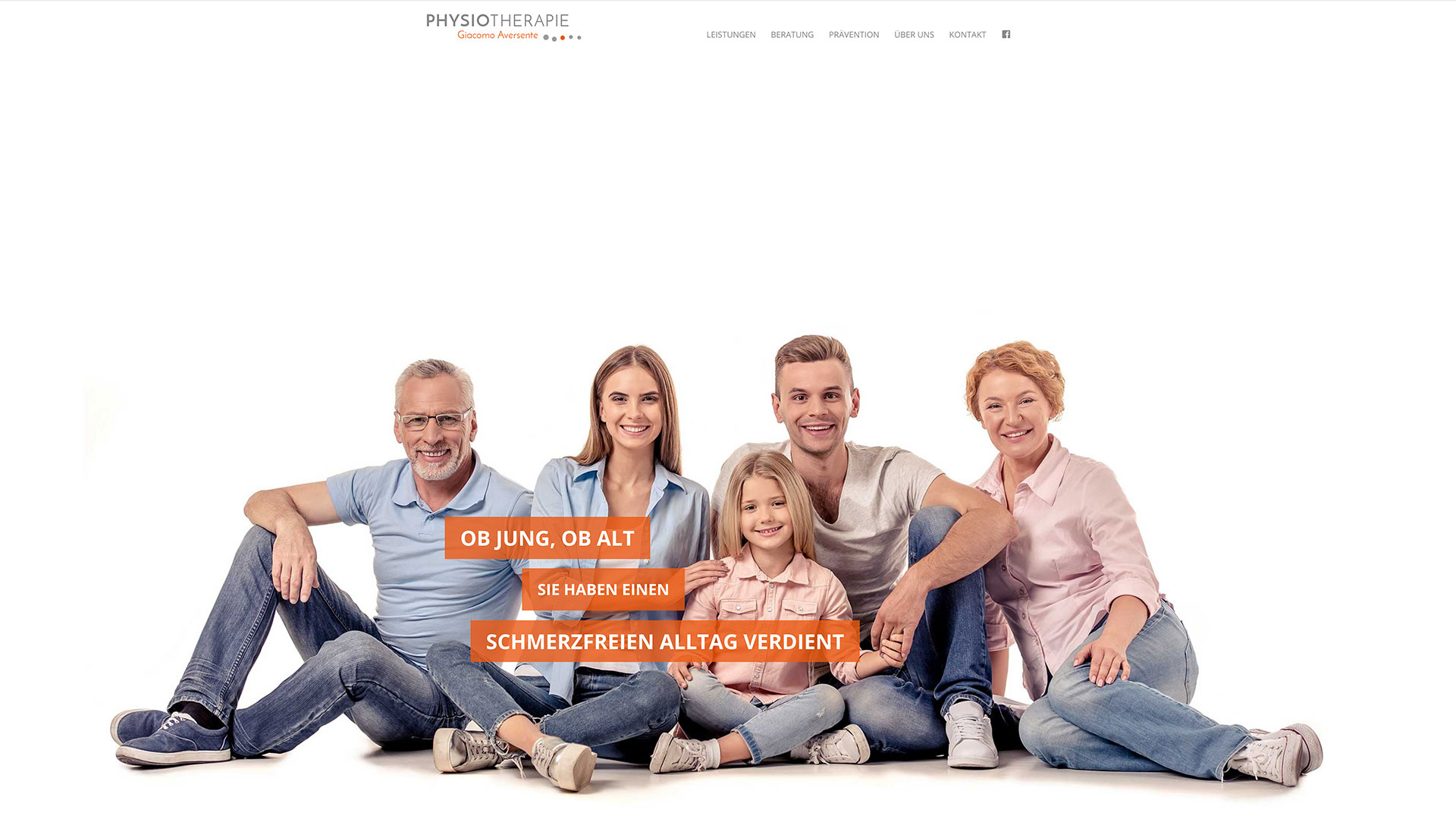 Physiotherapie Remscheid - Website
