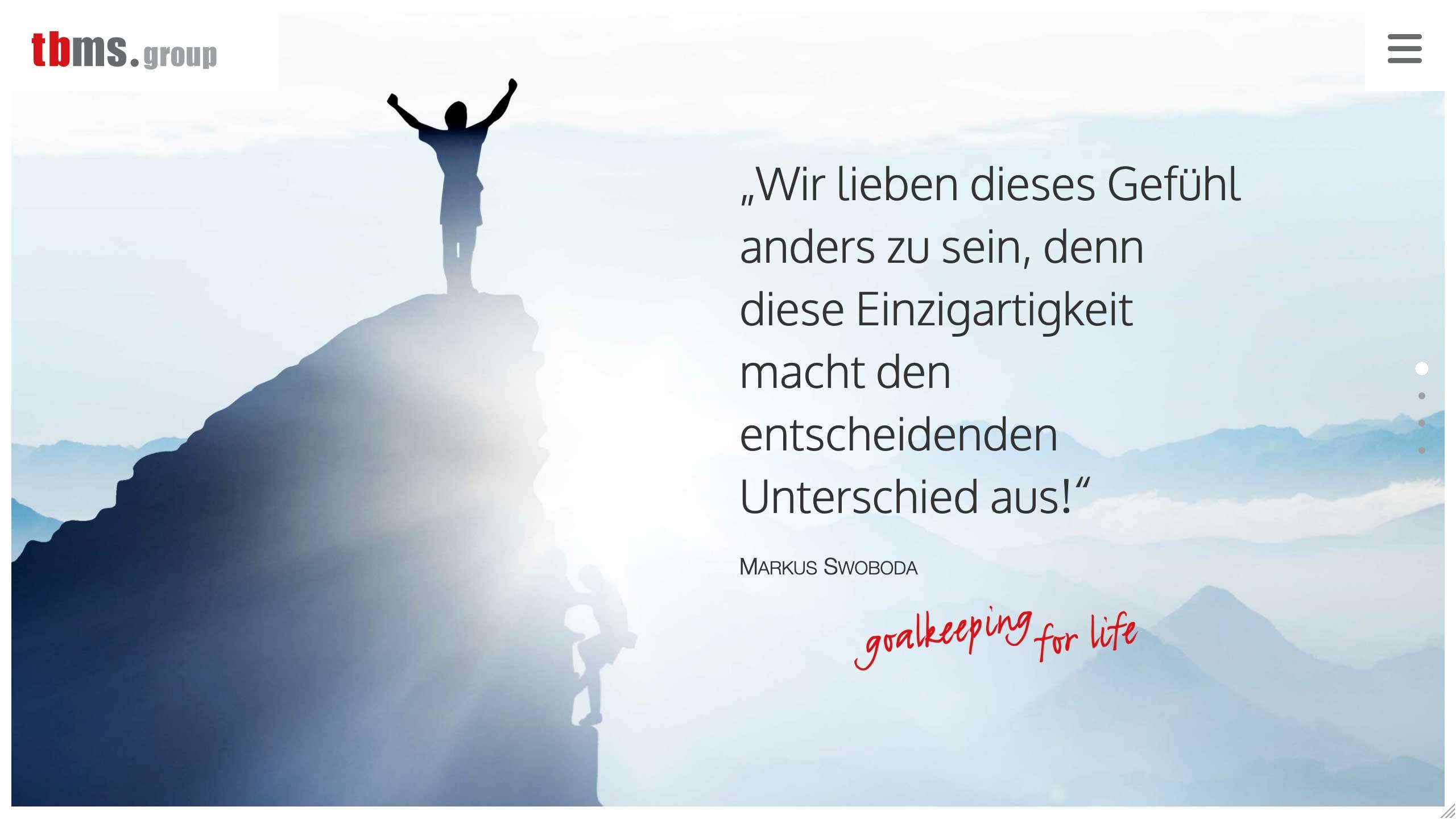 Torwartbetreuung Markus Swoboda - Website Redesign